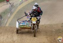 Ronkende namen in de Franse sidecarcross histoire : Thierry Mistral en Pascal Rostingt.