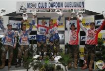 Podium tweede manche in Dardon.