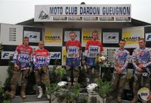 Eindpodium van de Grand Prix in Dardon Gueugnon.